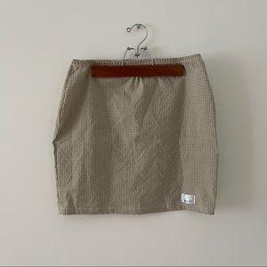 🔵Elastic Waist Checkered Skirt
